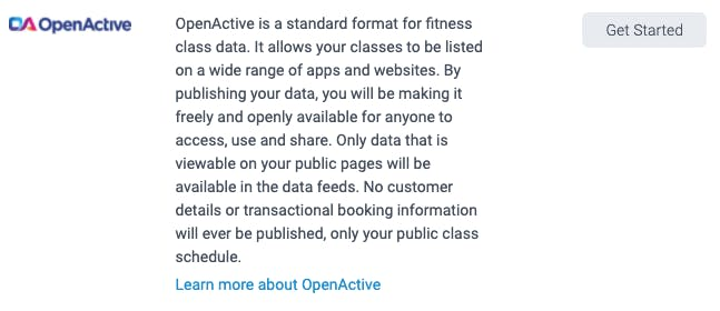 openactive integration in teamup
