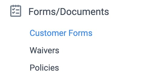 forms and documents tab