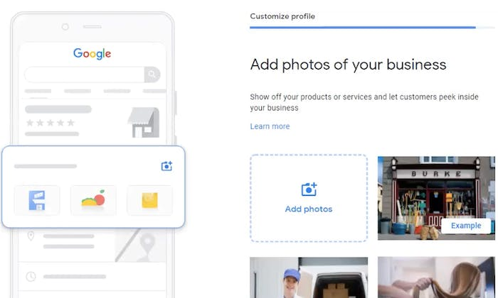 Include photos to your Google My Business Account