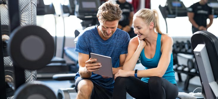 two gym owners using teamup software