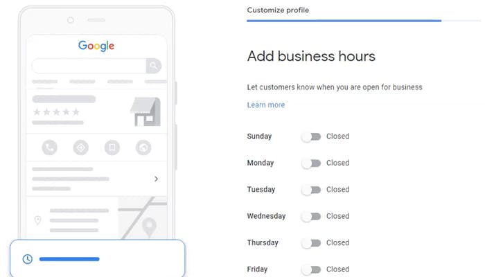 Add your business hours to your Google My Business account