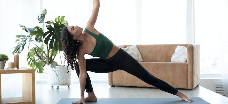 A yogi practicing yoga