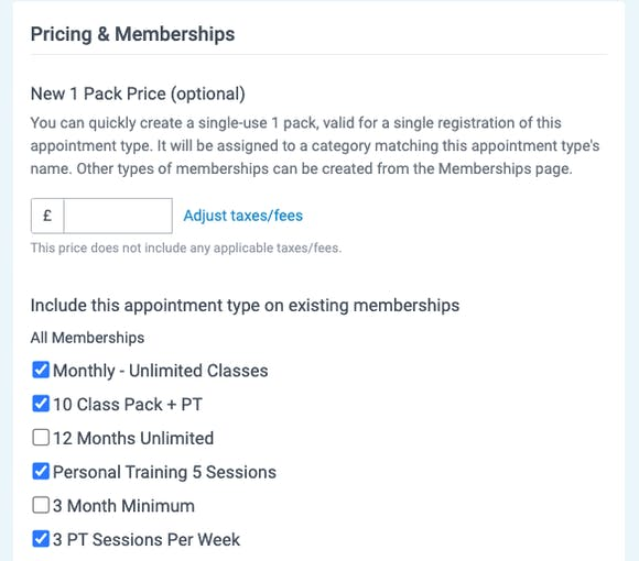 pricing and memberships