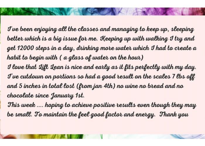 freda fitness customer testimonial 1