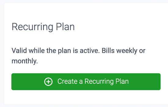 recurring plan in teamup