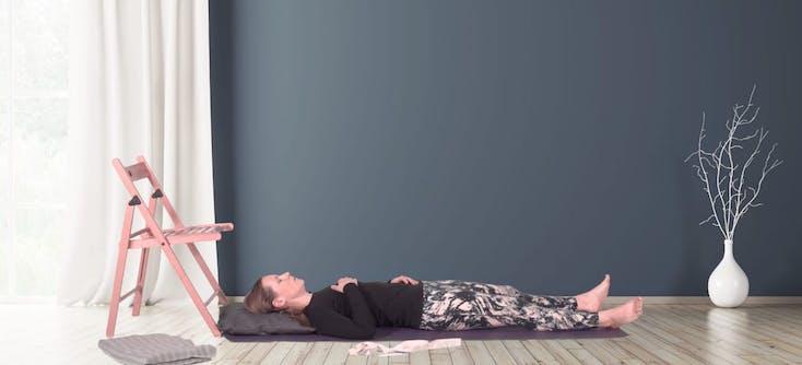 kelly ann owner of kelly ann yoga teaching a class