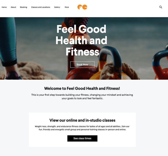Feel Good Health & Fitness booking page