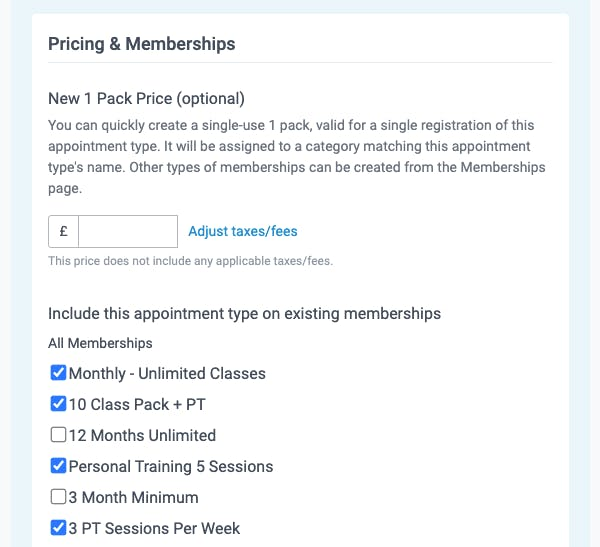 pricing and memberships in teamup
