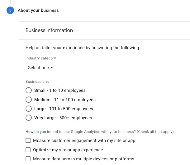 Part 3 of setting up a Google analytics account