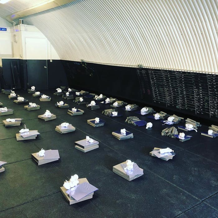 image of fison fitness studio and the ppe packs
