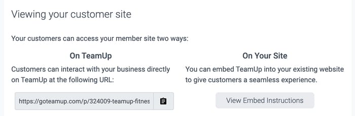 The ways customers can view Clare's website