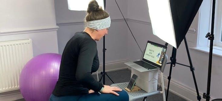 louise redmond teaching an online appointment