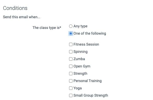 information regarding class type