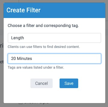image of the on demand content filters