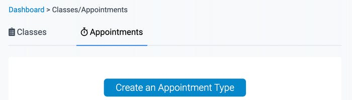 appointment and class types