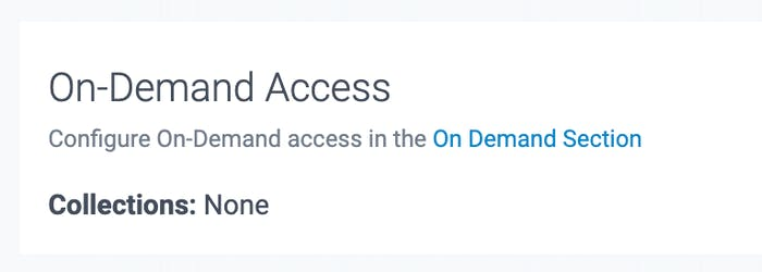 on demand access in teamup