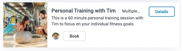 personal training with tim appointment