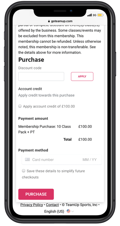 purchase options in app