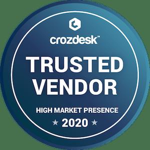 crozdesk trusted vendor badge