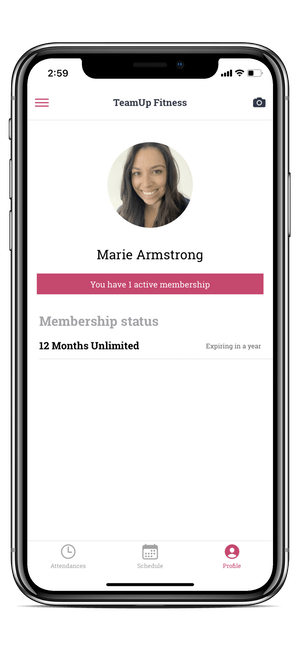 image of the member app customer profile page