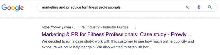 google search featuring prowly teamup article