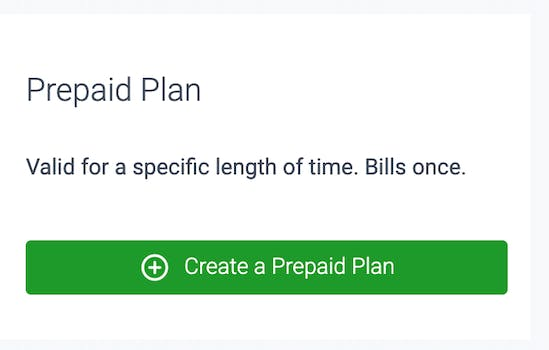 prepaid plan in teamup on demand feature