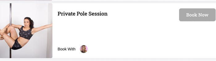 Booking appointments with Blush Pole Academy