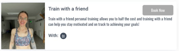 Ascend Personal Training's train with a friend offer