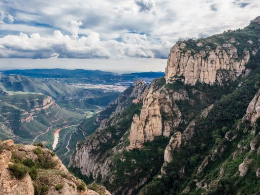 A view from the top of Montserrat, Catalonia