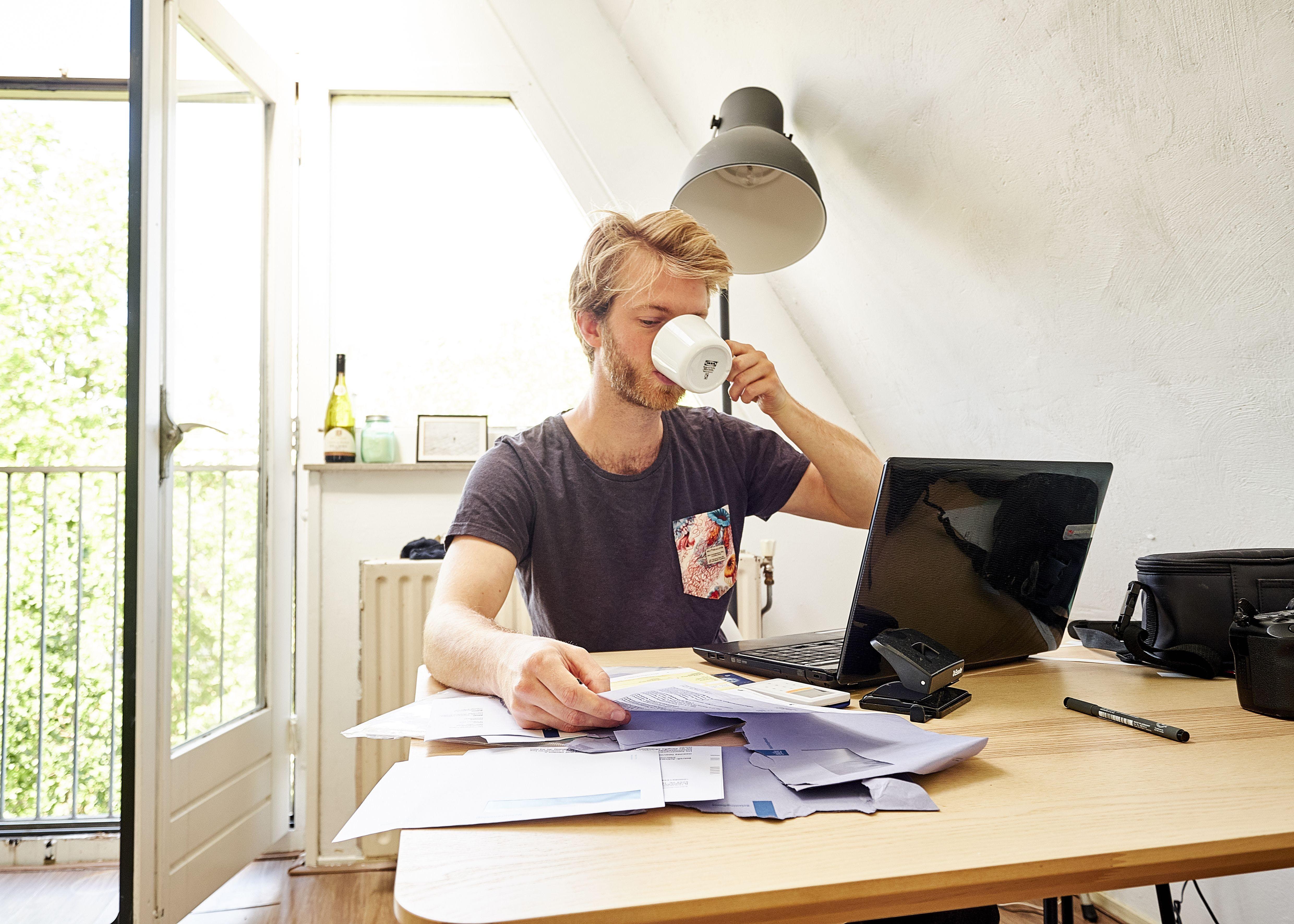 Ondernemer op kantoor