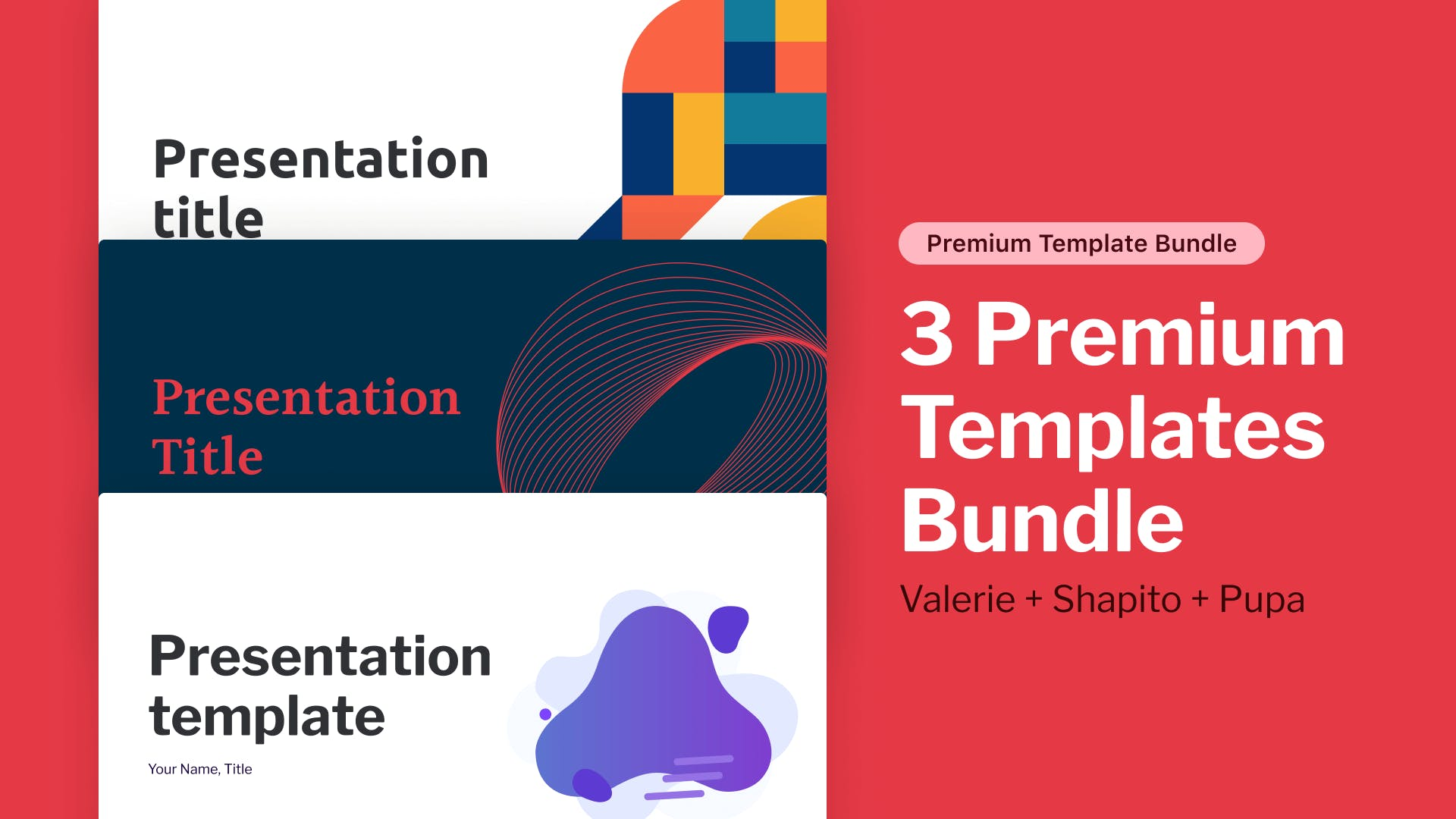 3 Premium Templates Bundle