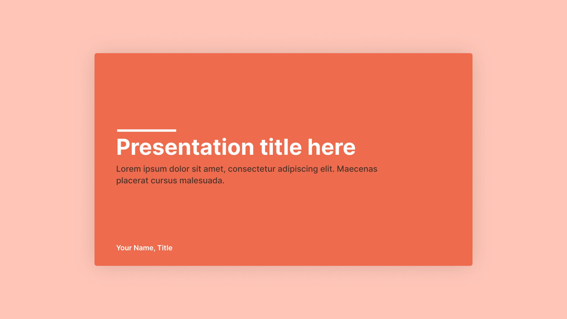 Chester Presentation Template