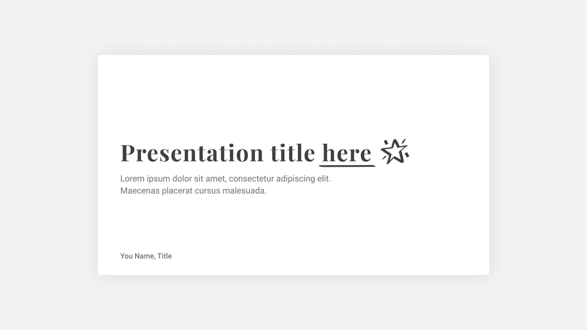 Starry Presentation Template