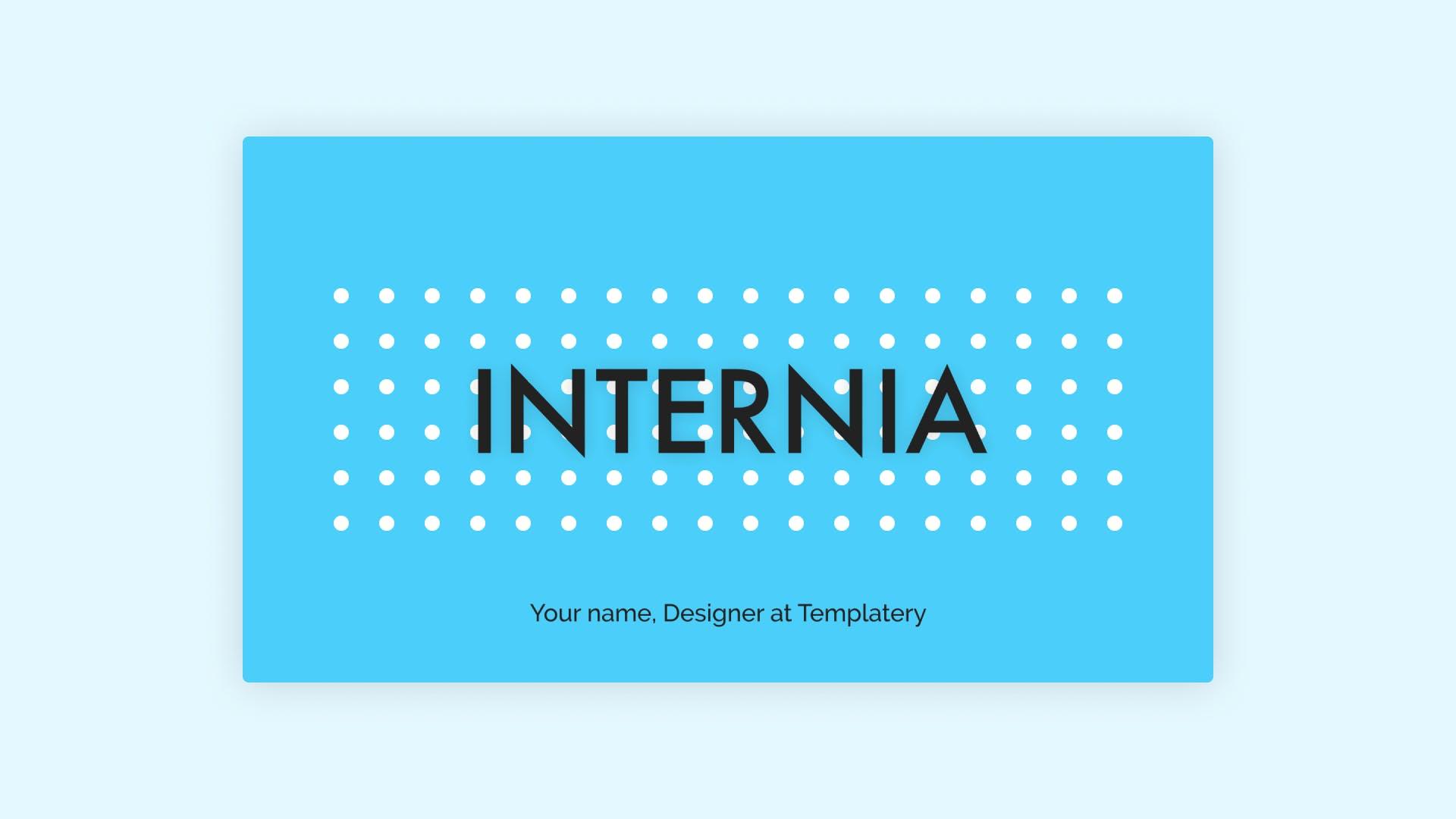 Internia Presentation Template