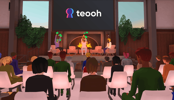 hosting motivational speeches in Teooh's avatar-based virtual platform