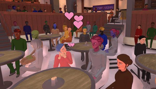 hosting poetry readings in Teooh's avatar-based virtual platform