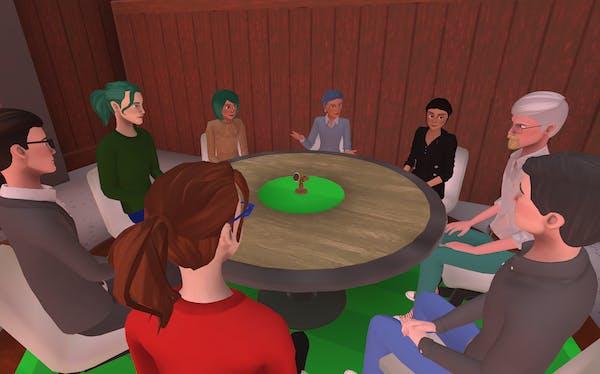 hosting committee meetings in Teooh's avatar-based virtual platform