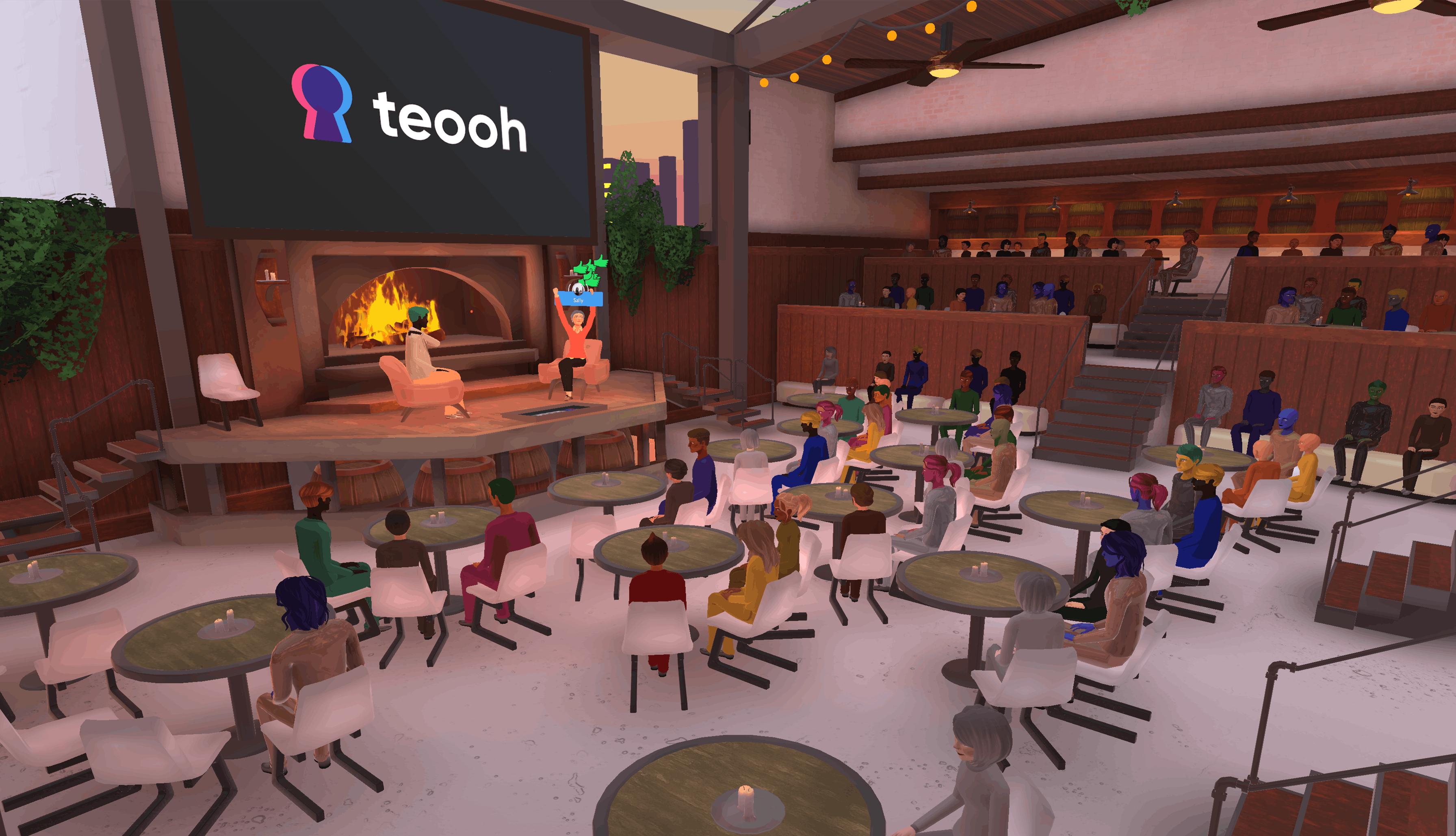 hosting community meetups in Teooh's avatar-based virtual platform
