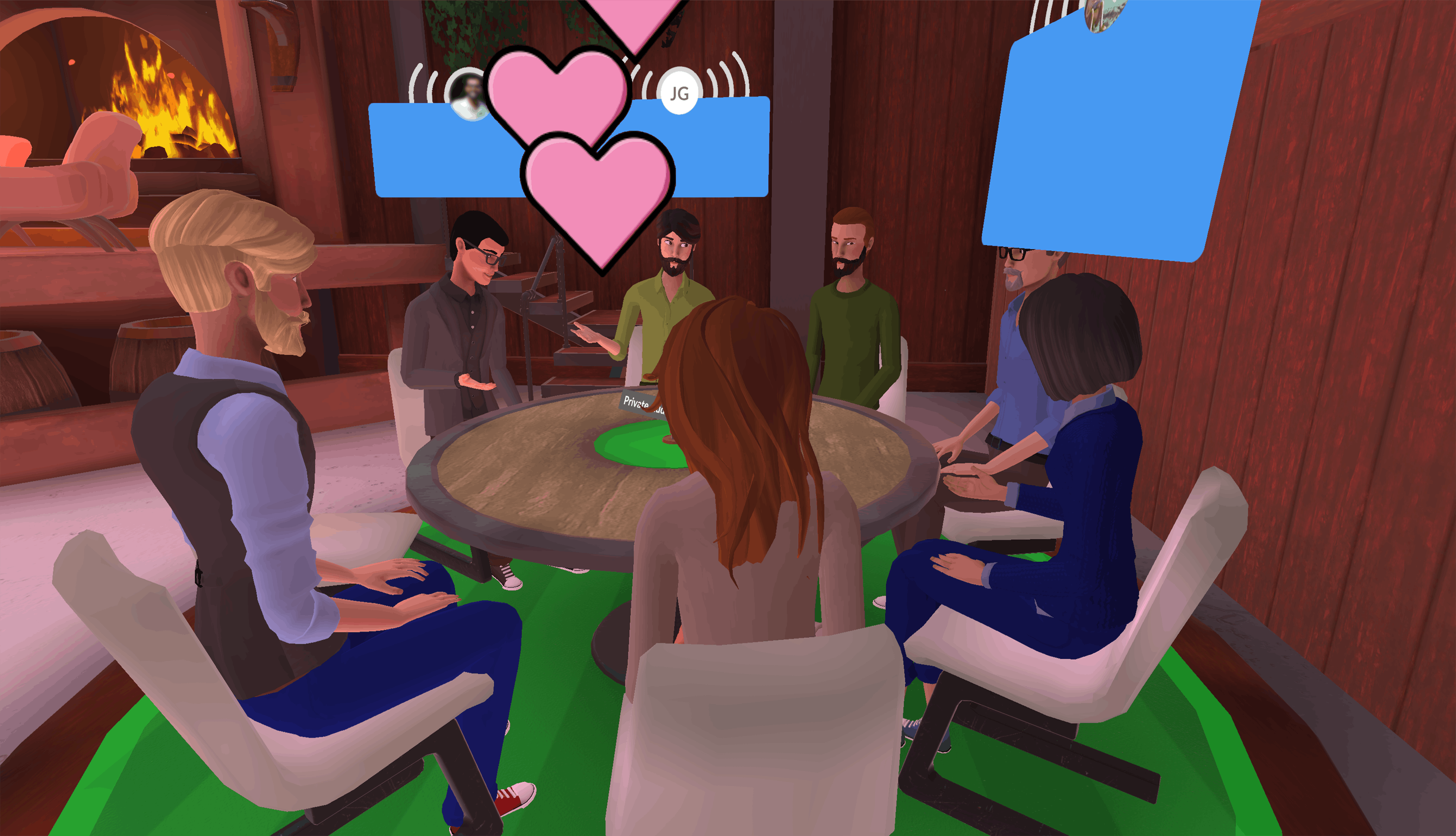 family and friends gatherings in Teooh's avatar-based virtual reality platform