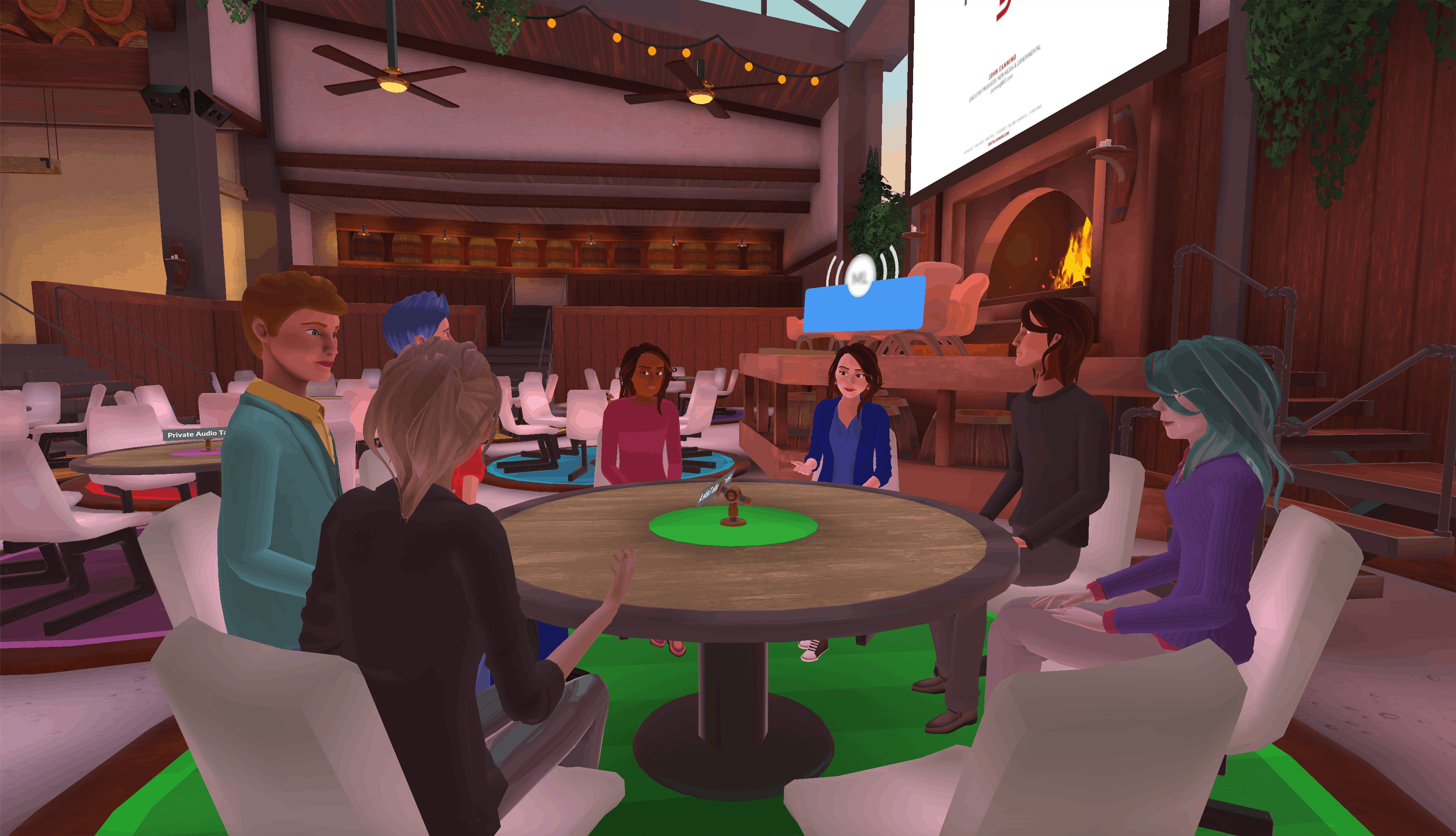 team meet-ups in Teooh's avatar based virtual reality platform