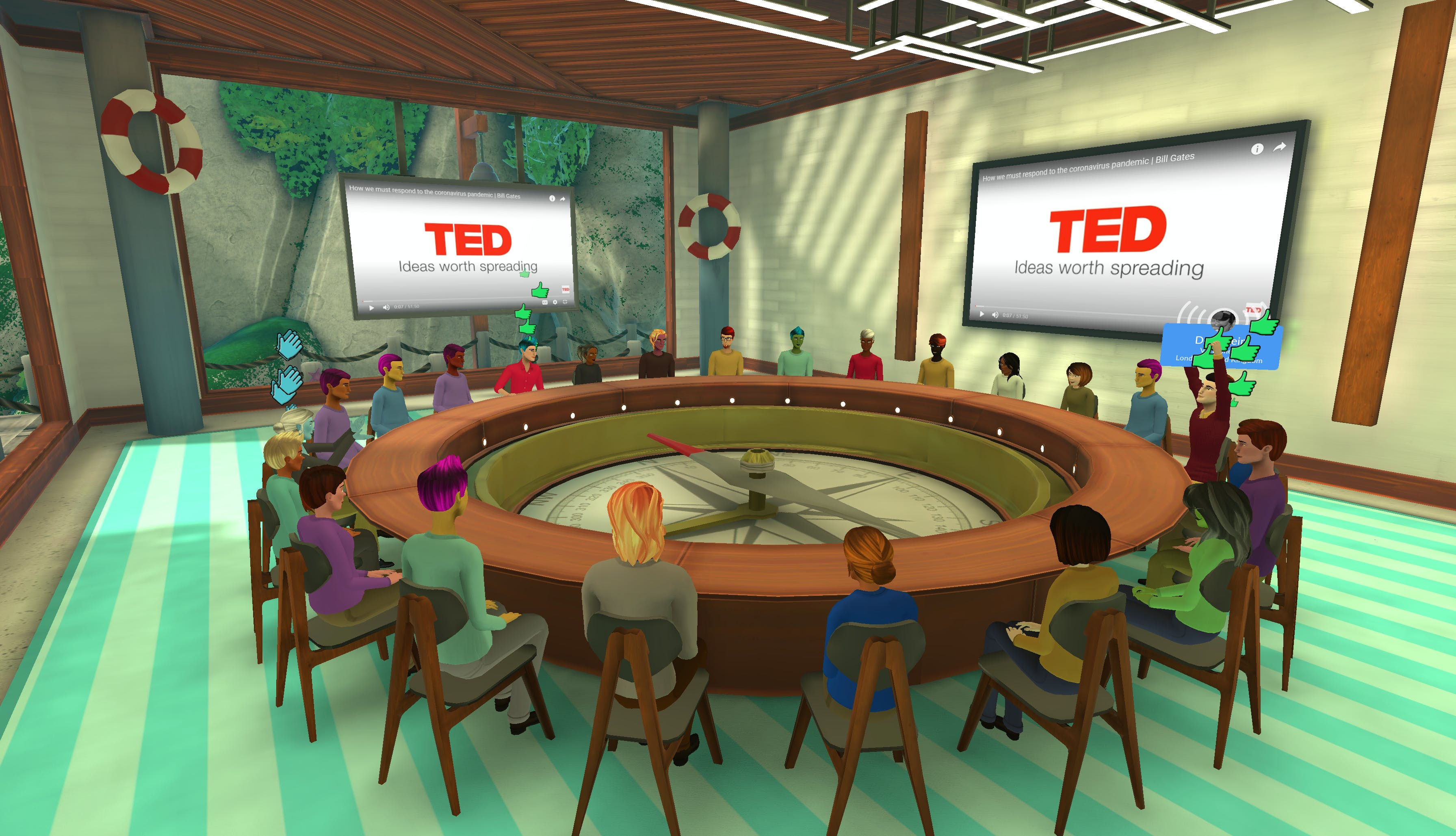 remote community meetings in Teooh's avatar-based virtual reality platform