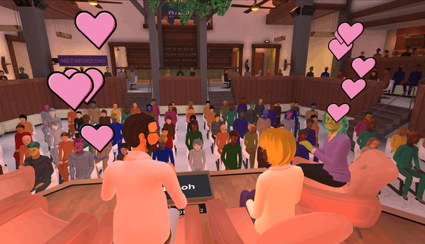 hosting book tours in Teooh's avatar-based virtual platform