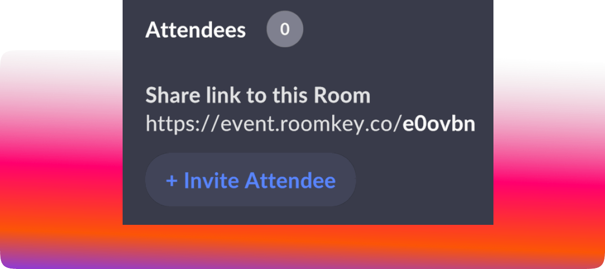 Roomkey - Share event with attendees