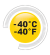 Icon for technology feature: Comfort Rated -40°C/-40°F