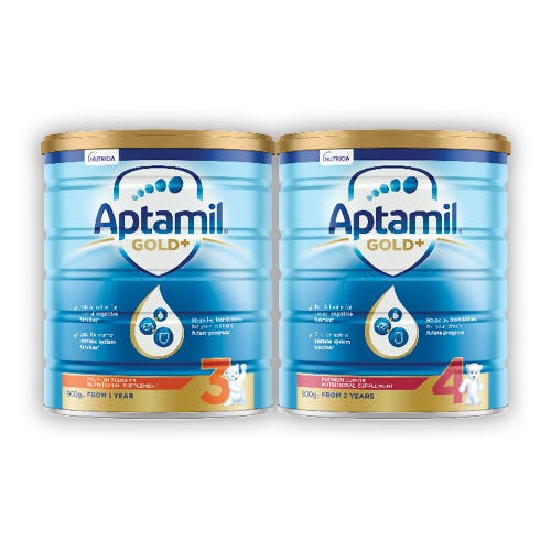 Aptamil Gold+ Toddler 3 or Junior 4 Formula 900g