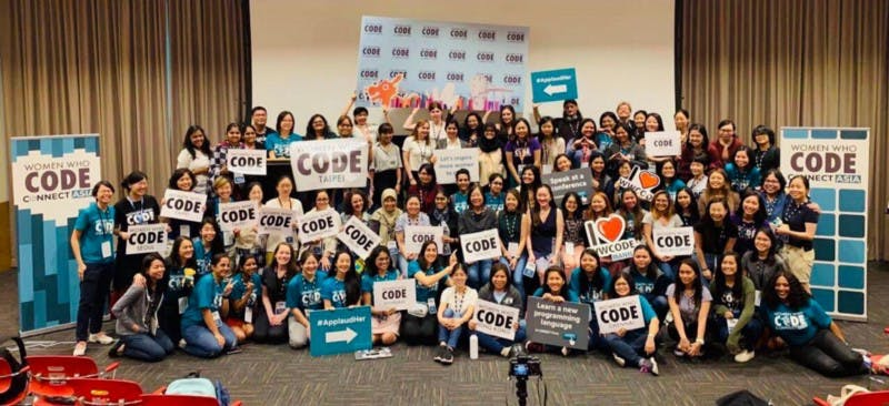 women who code, group photo, gender equality