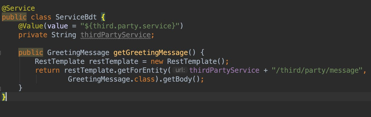 spring boot bdt code