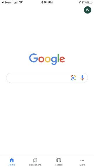 google search home