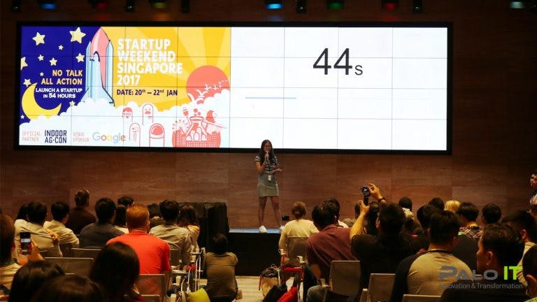 startup weekend singapore, stage