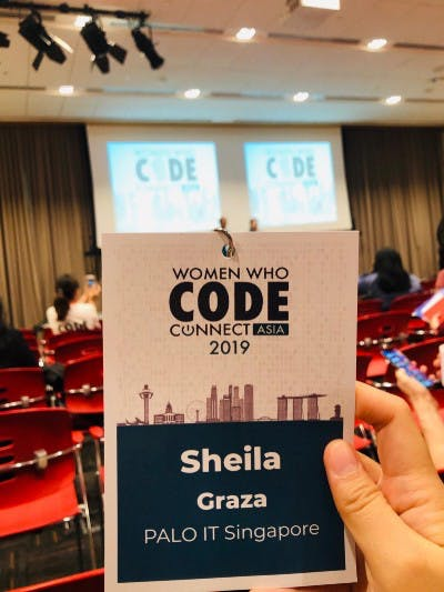women who code, event badge